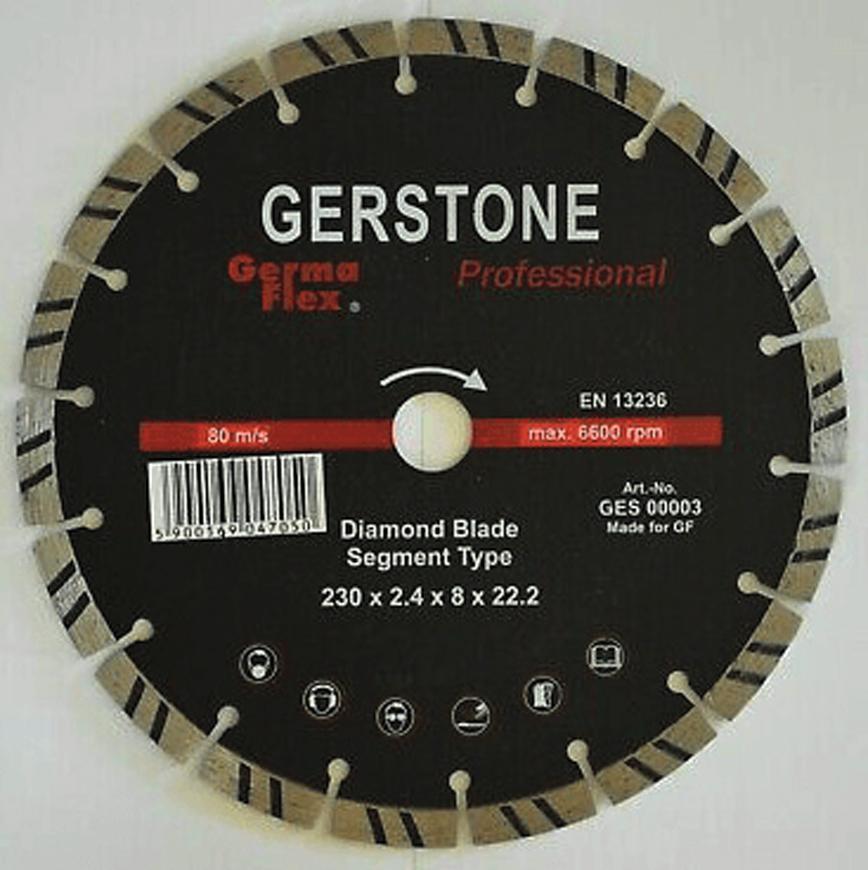 Kotuc GermaFlex Gerstone 125x22.2, 13.300 ot/min