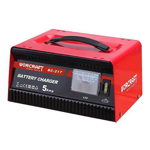 Nabíjačka Worcraft BC-217, 12V/230V, 5A, na autobatérie