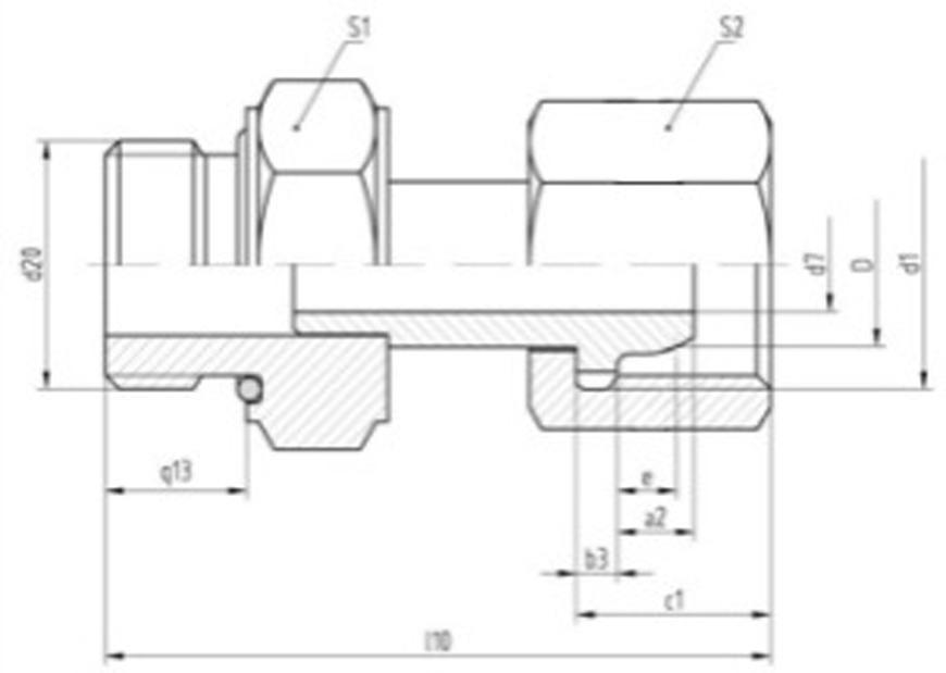 "Srubenie Messer 0.463.410, G1"" RH-G3/8"" RH, Simax, nehor. plyn"