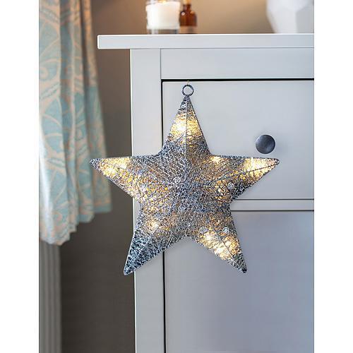 Hviezda MagicHome Vianoce, 20 LED, 30x6 cm, 3xAA, interiér