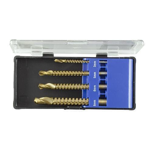 Sada vrtákov Strend Pro RS003, frézovacích, 4 dielna, 3-4-6-8 mm
