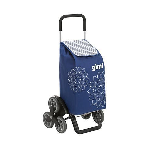 Vozik GIMI Tris, modrý, 56 lit, úprava na schody, 6 koliesok, nákupný