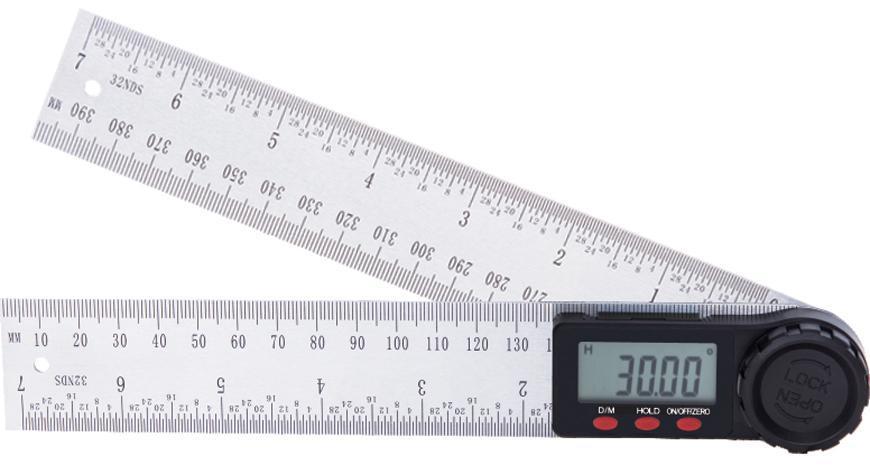 Pravítko Strend Pro, digitálne, uhlové 200 mm, nerezové, INOX