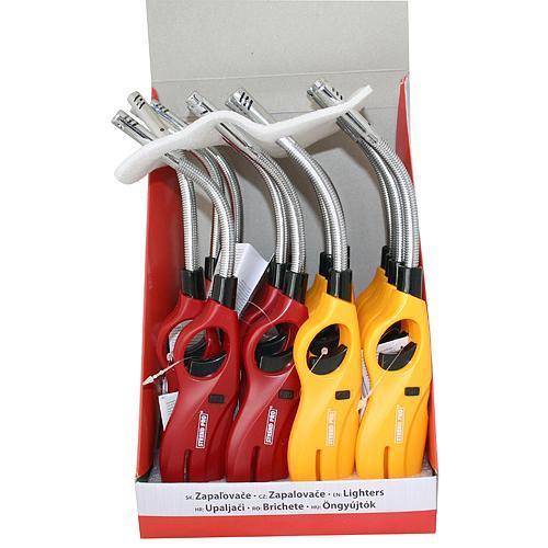 Zapalovač Strend Pro FLEXI, 2 farby, sellbox 16 ks