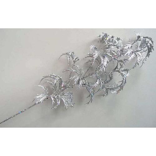 Vetvička MagicHome Vianoce, AraliaGlis.Silver, strieborná, 74 cm