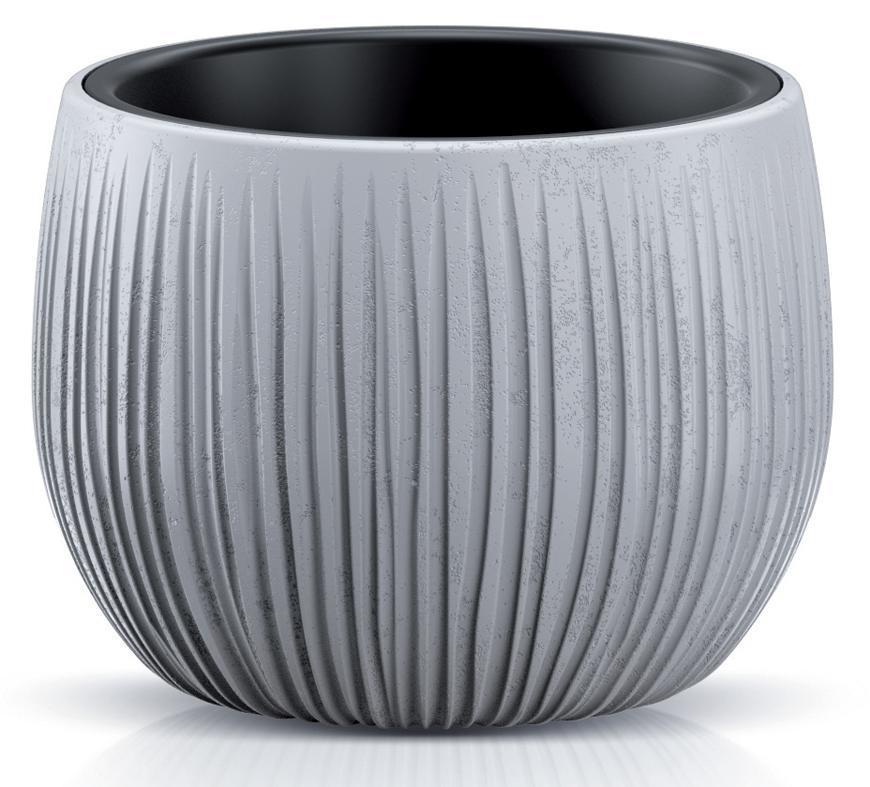 Kvetináč BETON Bowl, 18/13x14 cm, sivý