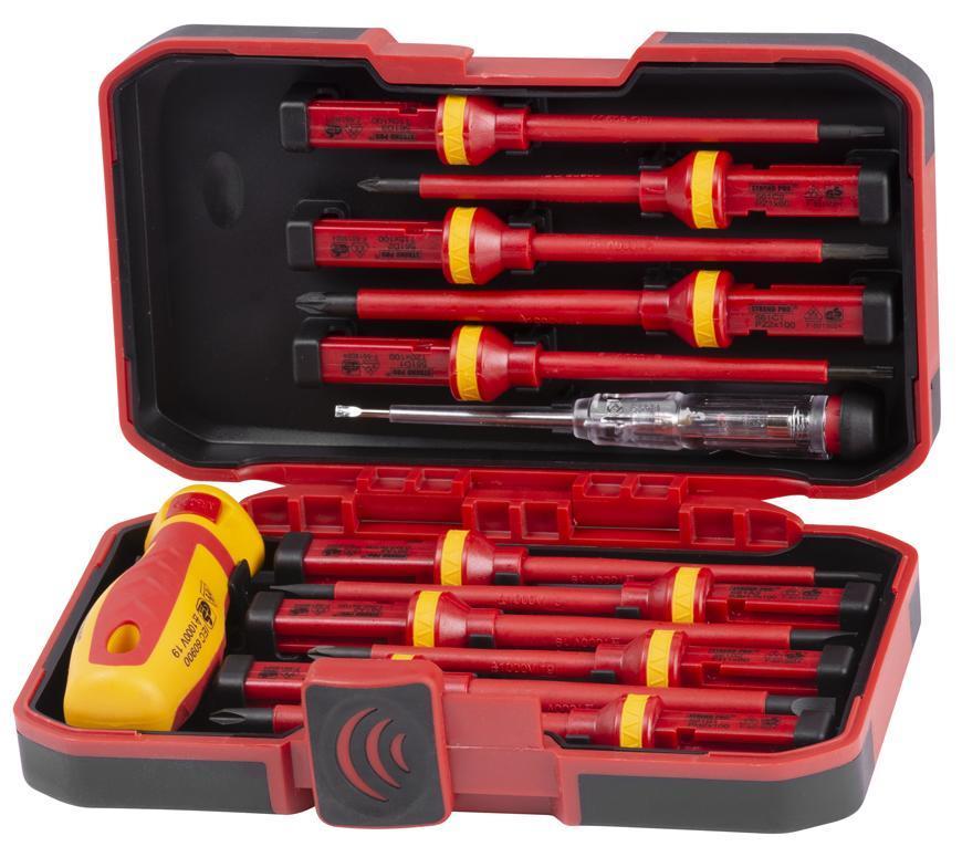 Sada skrutkovačov Strend Pro SDX61-113, VDE 12 dielna + skúšačka, elektrikárska, 1000V