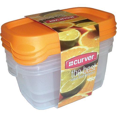 Dozy Curver® na potraviny, 3x0.5L, zelená, 15x7x10 cm