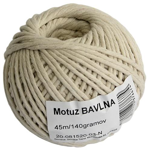Motuz Cotton 045 m/70 g, bavlna, BallPack