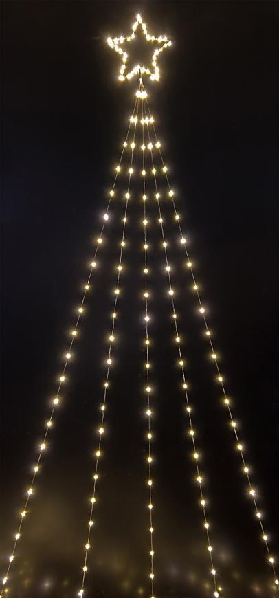 Dekorácia MagicHome Vianoce, Kométa, 240 LED teplá biela, 10 funkcií, IP44, exteriér, 5x3,90 m