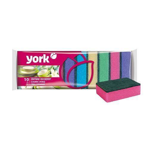 Hubka York 030030, špongia na riad, 9x6x3 cm, bal. 10 ks