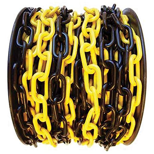 Retaz SLC 6 mm, L-25 m, plast, žlto-čierna, výstražná