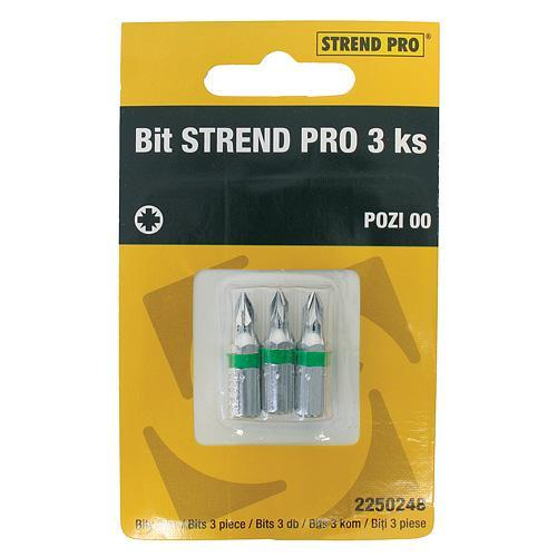 Bit Strend Pro Pozidriv 00, bal. 3 ks