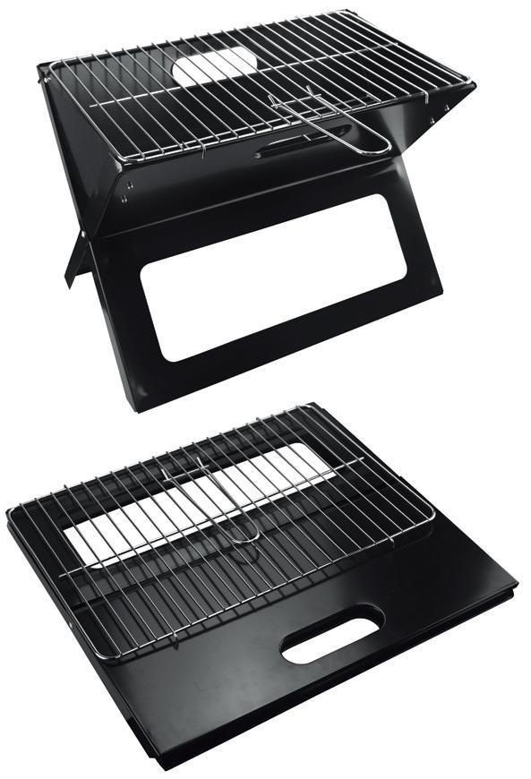 Gril Strend Pro Practic, BBQ, na drevené uhlie, sklápací, 450x330x350 mm