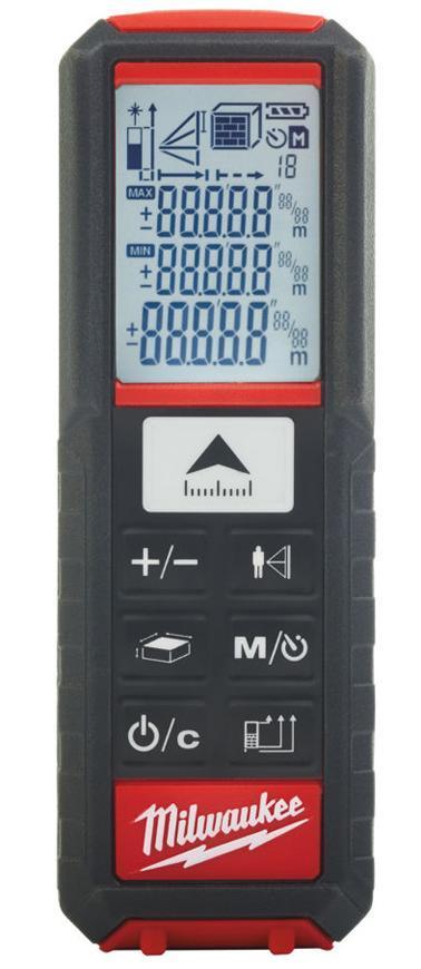 Dialkomer Milwaukee LDM 50, 50m, laserovy