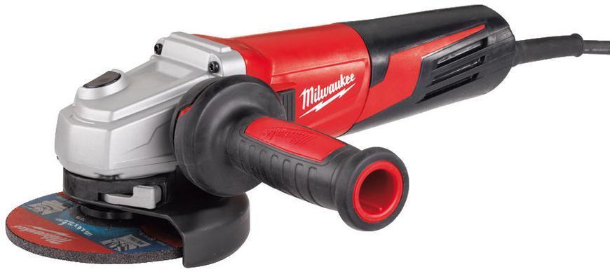 Bruska Milwaukee® AGV 15-125 XE, 125 mm, 1550W, protector-motor, uhlová