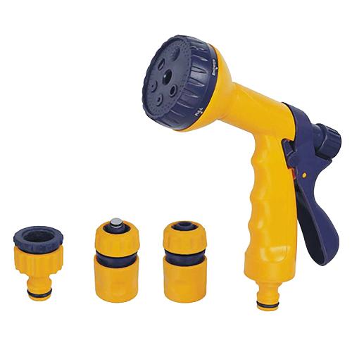 Pištoľ Strend Pro Garden DY2323, zavlažovacia, záhradná, 6 vzorov, 2x spojka, 1x adaptér