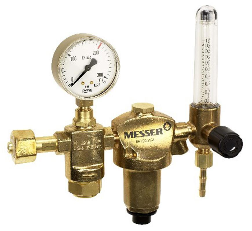 "Ventil Messer 716.20132, G1/4"" DN6, 5l, Ar/CO2, prietokomer"
