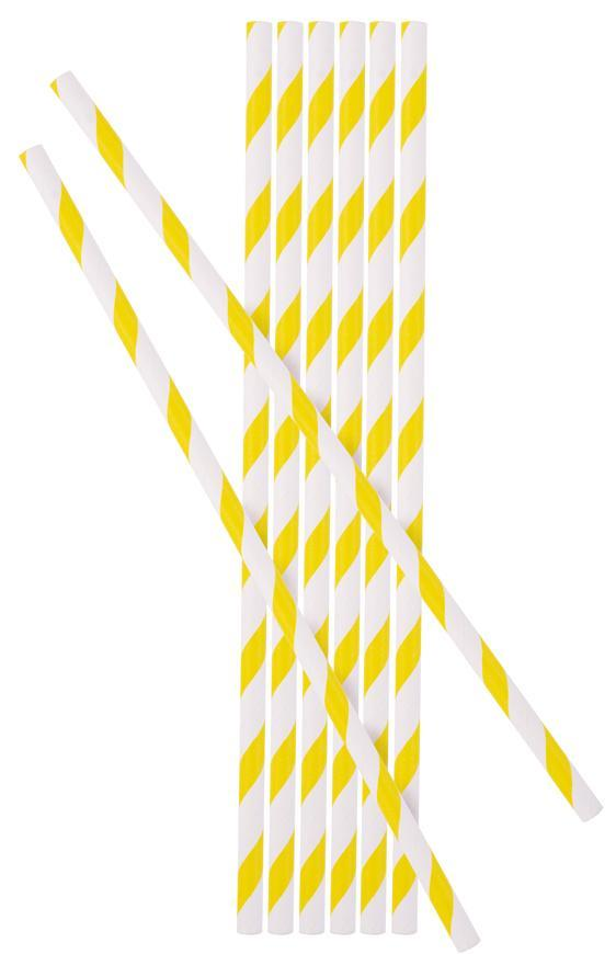Slamka MagicHome Paper ECO, 6x197 mm, žltá, bal. 25 ks