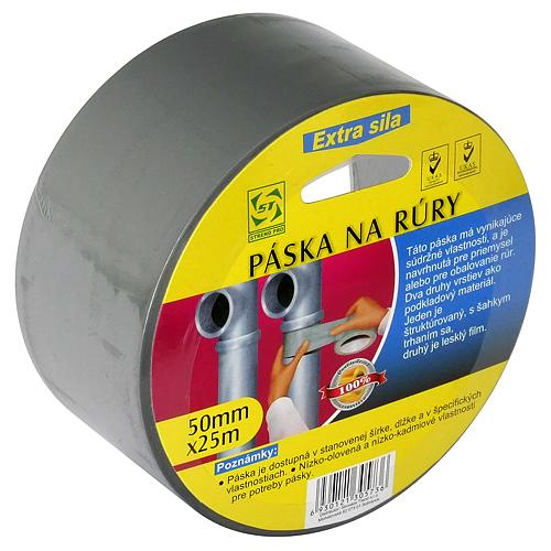 Páska Strend Pro, 50 mm, L-25 m, PVC, na rúry, strieborná