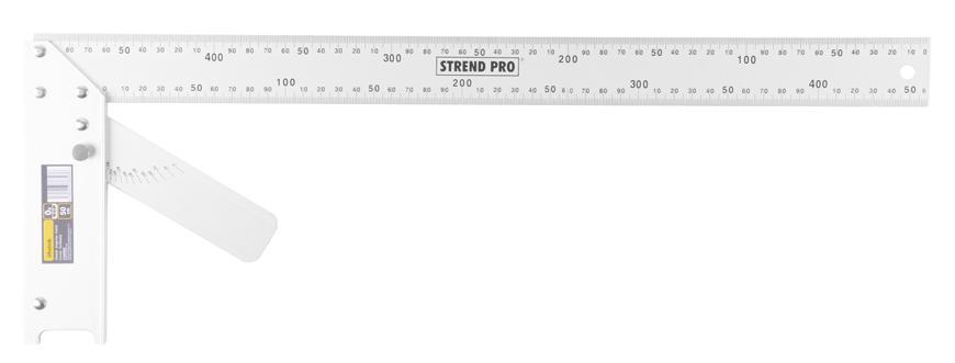 Uholník FSC-08 500 mm, Alu, s uhlomerom