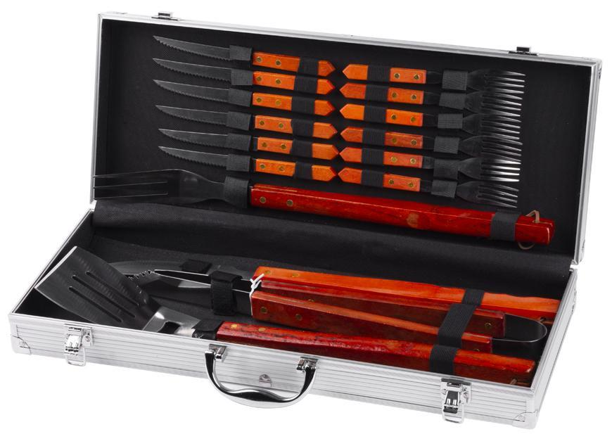 Sada naradia Strend Pro BBQ 286, 16 dielna, v kufri, na opekanie a grilovanie