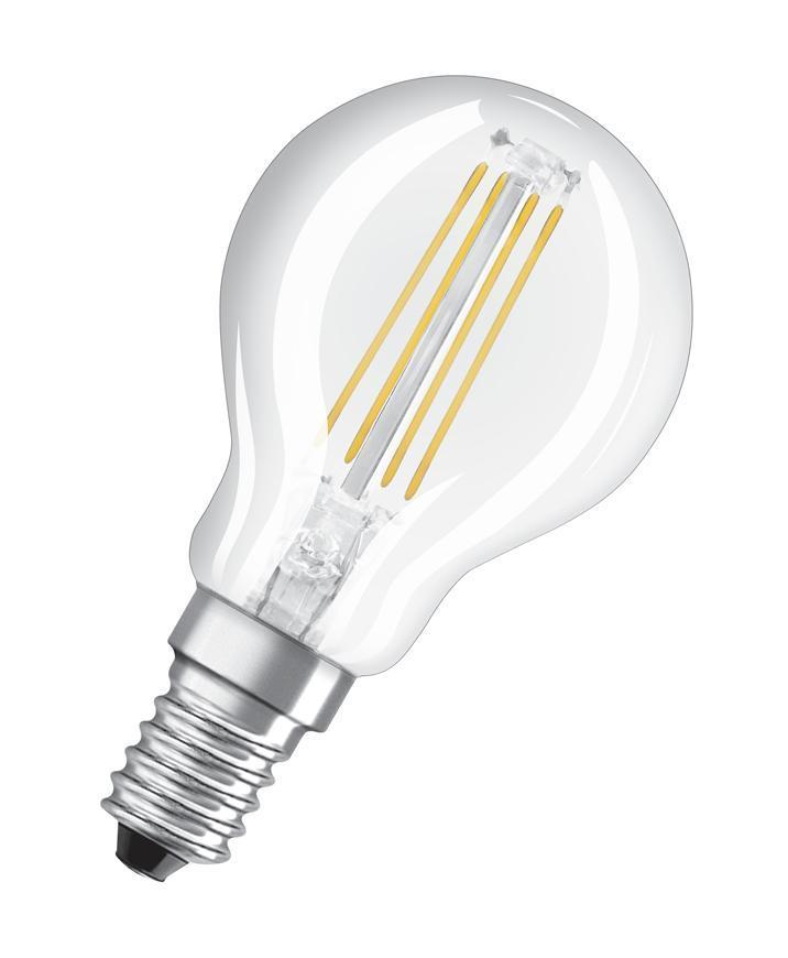 Ziarovka OSRAM® LED FIL 040 (ean8720) non-dim, 4W/827 E14 2700K Value CLASSIC P