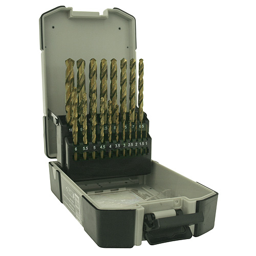 Sada vrtákov Strend Pro M2, do kovu, 19 diena, 1-10 mm, HSS, DIN-338, professional