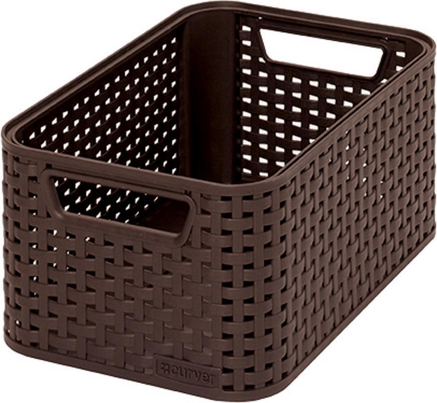 Košík Curver® STYLE2 S, hnedý, 28x12x19 cm