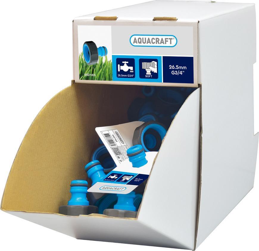 "Adaptér SoftTouch 3/4"", AQUACRAFT® 552165, Display box 70 ks"