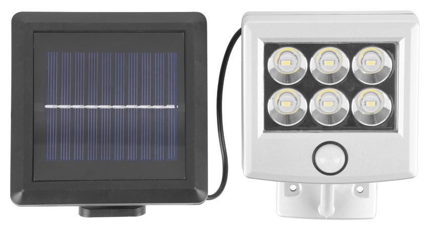 Svietidlo solárne Strend Pro SL6277, 6x LED, senzor pohybu, 150 lm