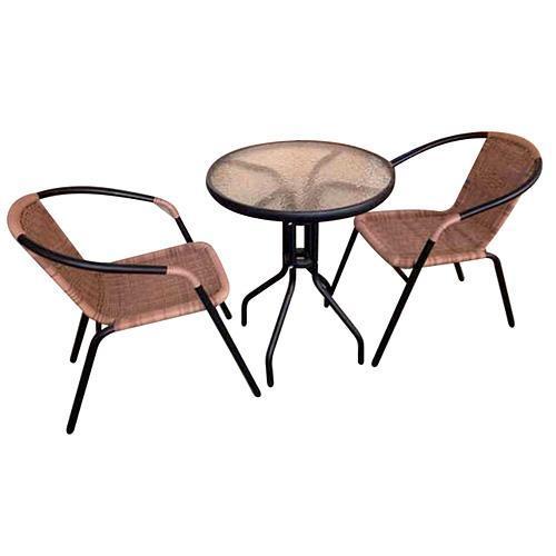 Stolička LEQ ALESIA, 52x55x73 cm, hnedá, 120 kg