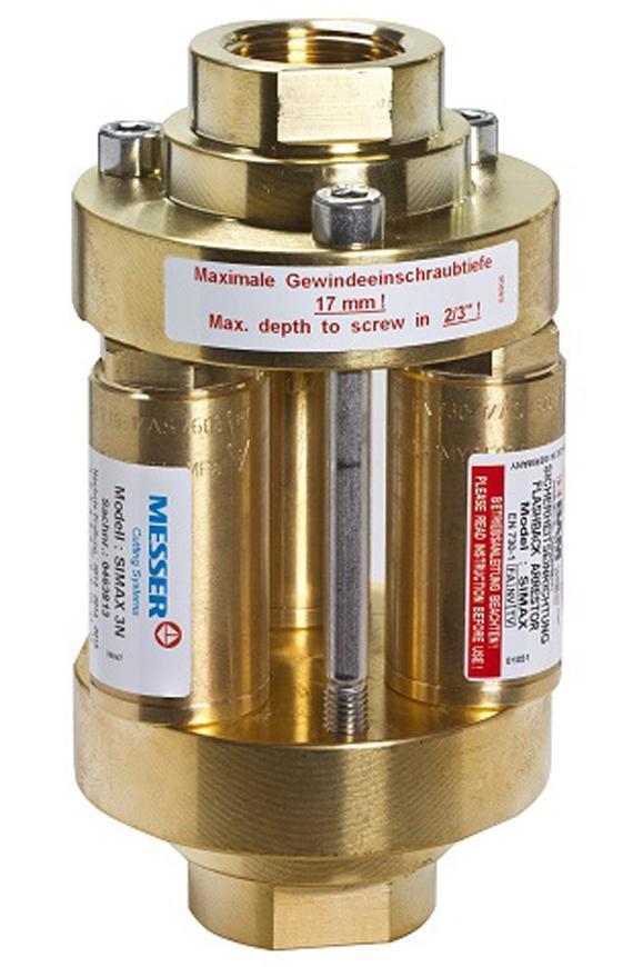 "Predloha Messer 0.463.810, Demax 5 • G1"" RH, Oxy, 15bar/110m3/h"