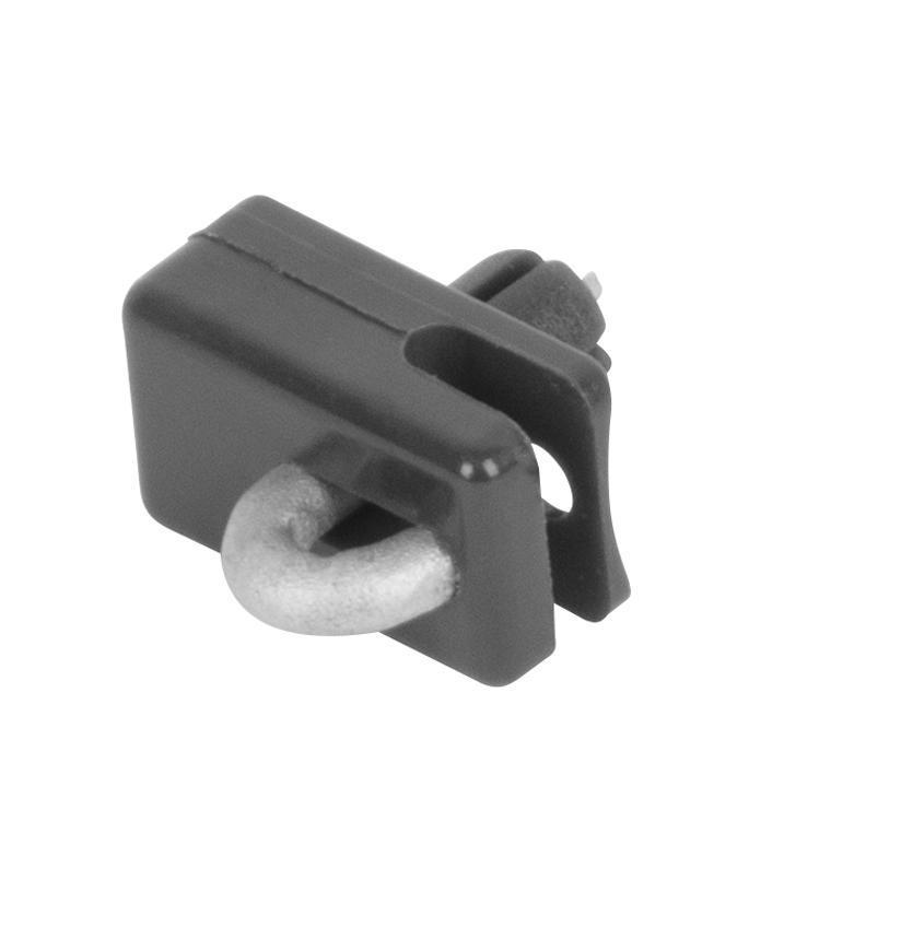 Príchytka Strend Pro METALTEC 2, vodiaca, na napínací drôt, s klinčekom, antracit, bal. 10ks