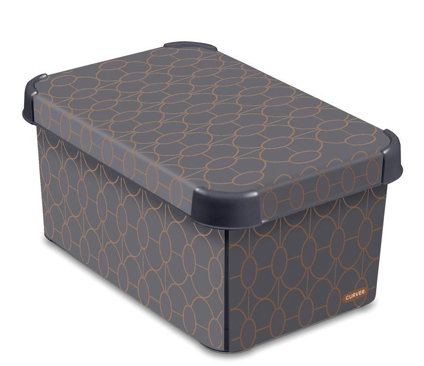 Box Curver® DECO STOCKHOLM S, Art Deco, 30x14x20 cm