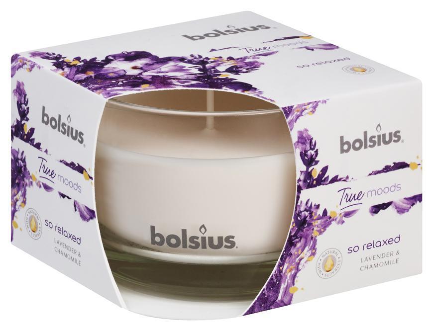 Sviecka bolsius Jar True Moods 63/90 mm, So relaxed (levanduľa a rumanček)