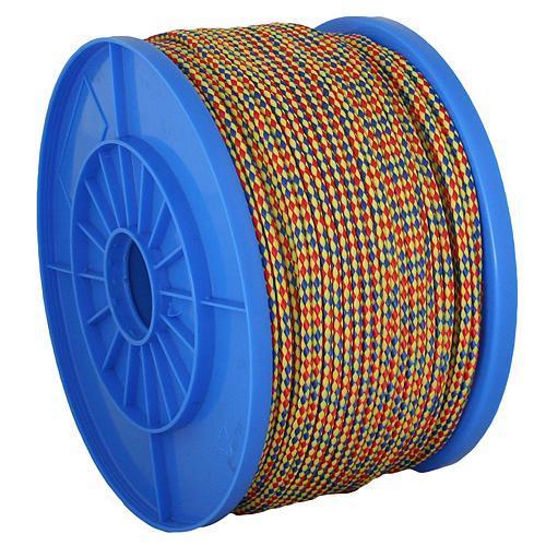 Lano Strend Pro MDB200, 06 mm, žlto-modro-červené, 90 m, PP, nos. 173 kg