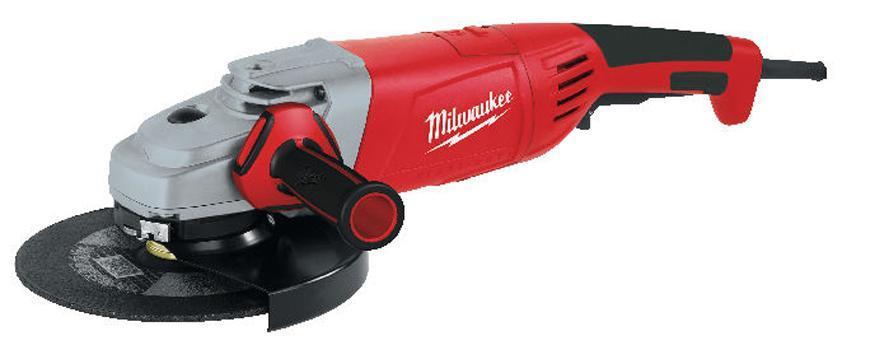 Bruska Milwaukee® AGV 24-230 E, 230 mm, 2400W, Protector-motor, uhlová
