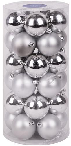 Gule MagicHome XD191, 30 ks, 6 cm, strieborné, na vianočný stromček