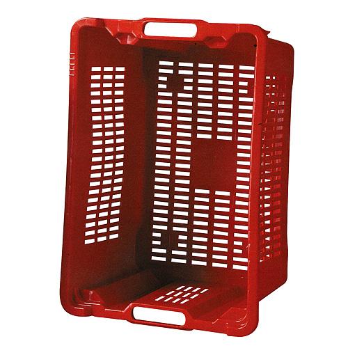 Prepravka ICS M402000, 40 lit, 56x35x31 cm, perforovaná, červená