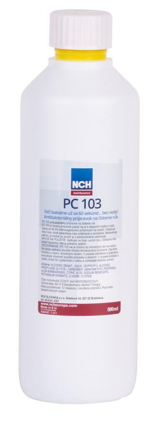 Dezinfekcia PC 103, 500 ml, anti-bakteriálny prípravok na ruky, mydlo, alkohol, aloe vera