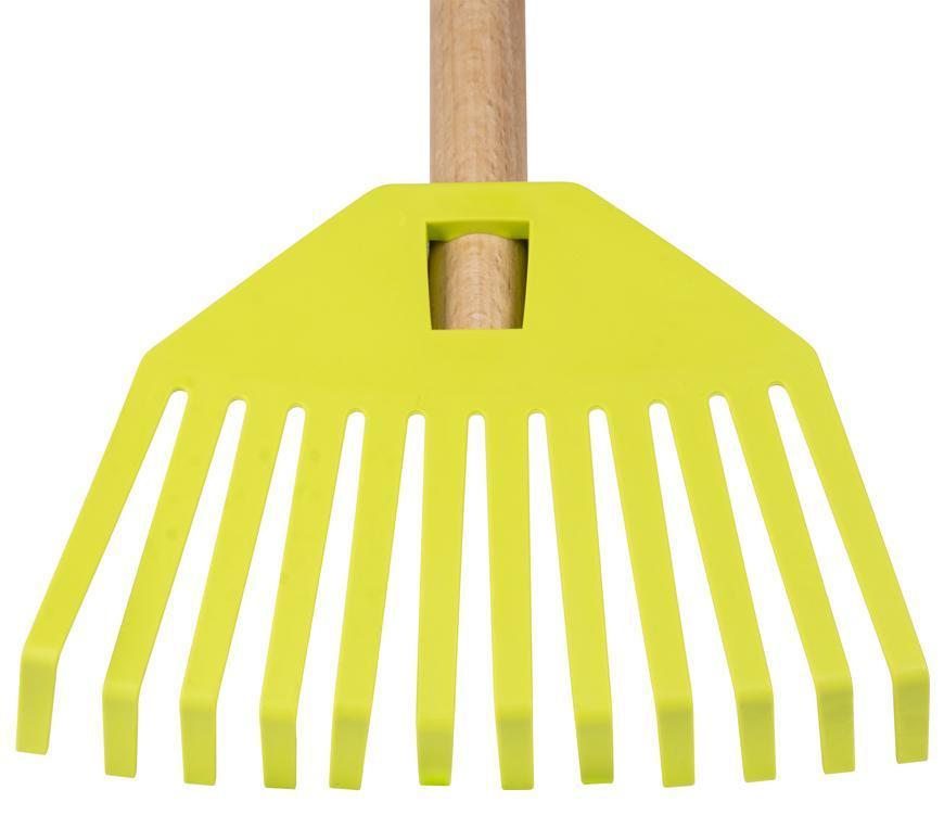 Hrable GECO 23352, 195x14x780, detské, plastové, zelené, s násadou