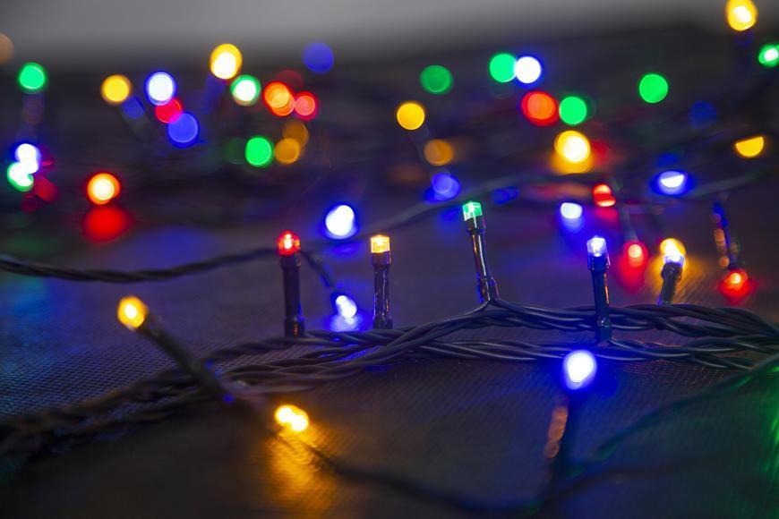 Reťaz MagicHome Vianoce Serpens, 100 LED multicolor, 8 funkcií, 230 V, 50 Hz, IP44, exteriér, L-10 m