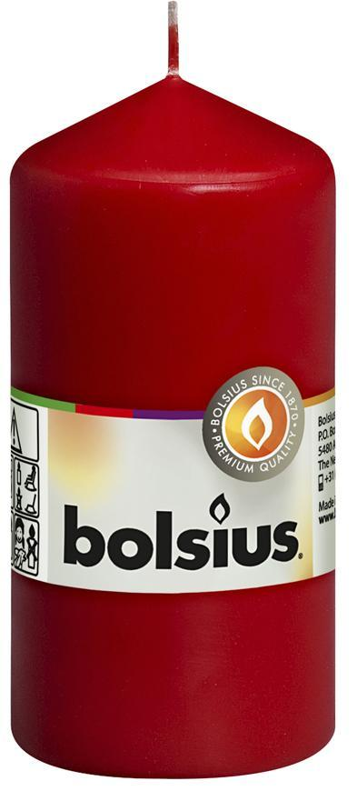 Sviecka bolsius Pillar 120/60 mm, červená