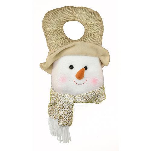 Dekorácia MagicHome Vianoce, Visačka Snehuliak, 30 cm