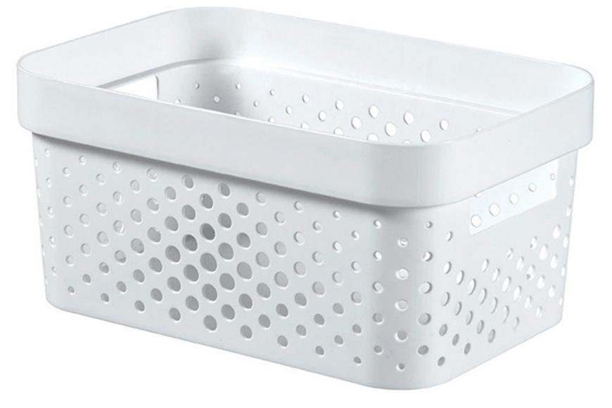 Kôš Curver® INFINITY RECYCLED 4.5L, biely, 26x12x18 cm