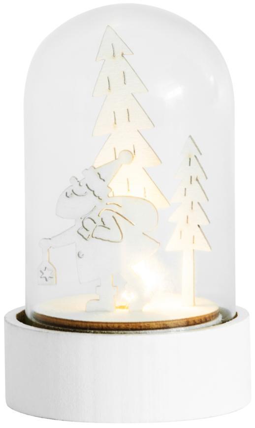 Dekorácia MagicHome Vianoce Woodeco, Santa v skle, 1xLED, 5x10 cm