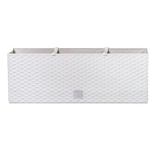 Kvetináč RATO Case 500, biely, CWS, zavlažovací systém