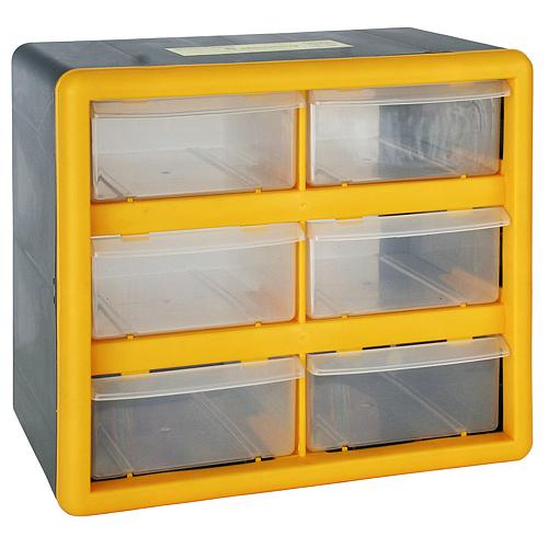 Organizér na stenu Strend Pro SBx3045-A, 06 zásuviek, 26.5x16x23.5 cm, max. 12 kg