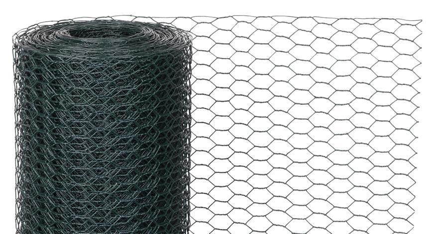 Pletivo GARDEN HEX PVC 500/20/0,9 mm, zelene, RAL 6005, šesťhranné, záhradné, chovateľské, bal. 10 m
